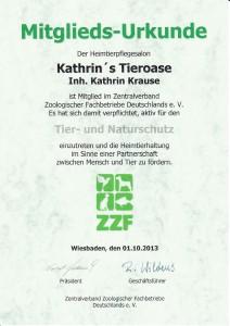 ZZF Urkunde