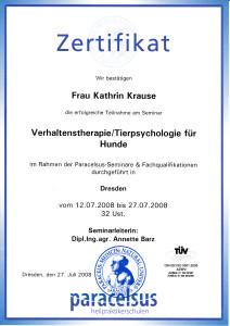 zertifikat Verhalt. Tierpsychologie_0001
